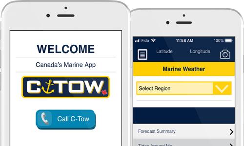 Free C-Tow Marine Assistance App